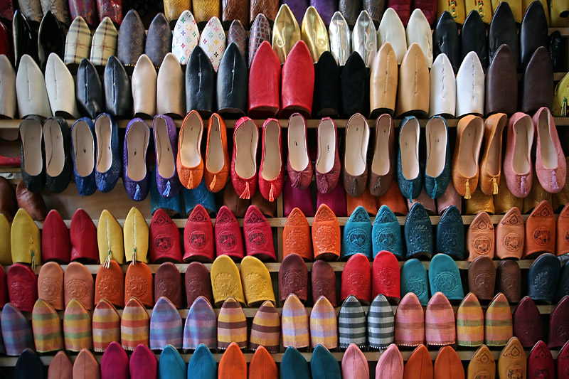 leather shoes in fez